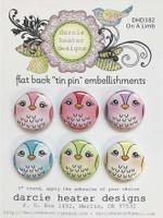 Darcie's Heart & Home Tin Pins - On A Limb