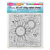 Stampendous 6 x 6 Cling Rubber Stamp - Sunny Sketch
