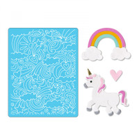 Sizzix Thinlits Die Set 11PK With Textured Impressions by Jen Long - Unicorn & Rainbows