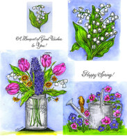 Northwoods Rubber Cling Stamps - Mason Jar & Watering Can