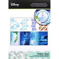 Disney A5 Scene Building Pad 32 Sheets, 8 Designs/4 Each - Cinderella
