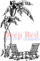Deep Red Rubber Cling Stamps - Seaside