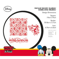 Character World Disney Embossing Folder, Mickey Mouse & Friends - Vintage Disney Baubles