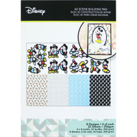 Disney A5 Scene Building Pad 32 Sheets, 8 Designs/4 Each - Mickey & Minnie