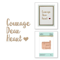 Spellbinders Glimmer Hot Foil Plates - Courage Dear Heart
