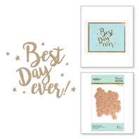 Spellbinders Glimmer Hot Foil Plates - Best Day Ever