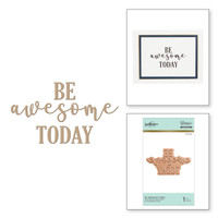 Spellbinders Glimmer Hot Foil Plates - Be Awesome Today