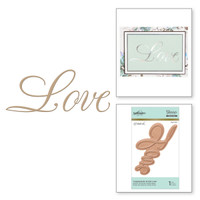 Spellbinders Glimmer Hot Foil Plates by Paul Antonio by Paul Antonio - Copperplate Script Love