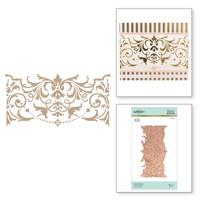 Spellbinders Glimmer Hot Foil Plates by Becca Feeken - Elegant Border