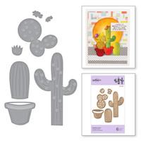 Spellbinders Exclusive Indie Collection, D-Lites Dies - Potted Cacti