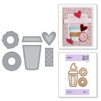 Spellbinders Exclusive Indie Collection, D-Lites Dies - Coffee Time