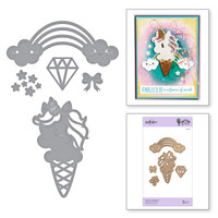 Spellbinders Exclusive Indie Collection, Shapeabilities Dies - Unicorn & Rainbow