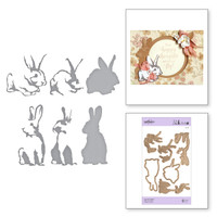 Spellbinders Exclusive Indie Collection, Shapeabilities Dies - Layered Rabbits