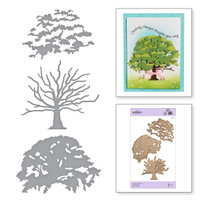 Spellbinders Exclusive Indie Collection, Shapeabilities Dies - Layered Oak Tree