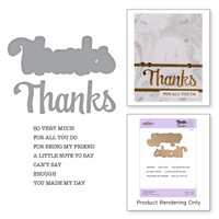 Spellbinders Exclusive Indie Collection, Stamps and Dies - Thanks Expressions