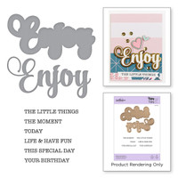 Spellbinders Exclusive Indie Collection, Stamps and Dies - Enjoy Expressions