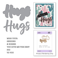 Spellbinders Exclusive Indie Collection, Stamps and Dies - Hugs Expressions