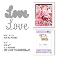Spellbinders Exclusive Indie Collection, Stamps and Dies - Love Expressions