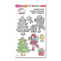 Stampendous Pink Your Life Stamps and Dies Set, Whisper Friends - Decorate