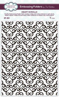 Creative Expressions Embossing Folder 5 3/4 x 7 1/2 inches - Heart Scrolls