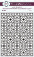 Creative Expressions Embossing Folder 5 3/4 x 7 1/2 inches - Lavish Diamonds