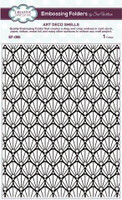 Creative Expressions Embossing Folder 5 3/4 x 7 1/2 inches - Art Deco Shells