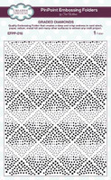 Creative Expressions Embossing Folder 7.48  x 5.70 inches - Graded Diamonds PinPoint