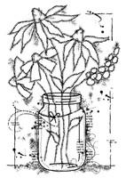 Woodware Clear Singles - Flowers In A Jar