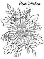 Woodware Clear Singles - Bold Blooms - Tracey