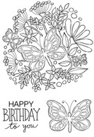 Woodware Clear Singles - Butterfly Posy