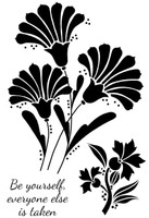 Woodware Clear Singles - Fan Flower