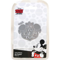 Character World Disney, Vintage Mickey Die Set - Love Peace & Joy Bauble Plaque
