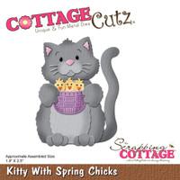 CottageCutz Dies - Kitty With Spring Chicks