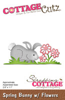 CottageCutz Dies - Spring Bunny With Flowers