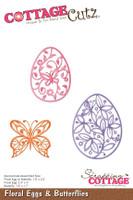 CottageCutz Dies - Floral Eggs & Butterflies