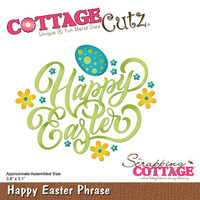 CottageCutz Dies - Happy Easter Phrase