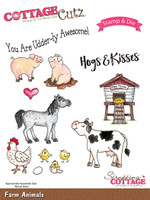 CottageCutz Stamp & Die Set - Farm Animals