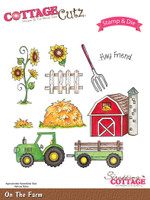 CottageCutz Stamp & Die Set - On The Farm