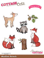 CottageCutz Stamp & Die Set - Woodland Animals