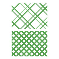 Simply Defined June 2018 Release Stamp Set (2/pk) - 5 x 7 Plaid Background