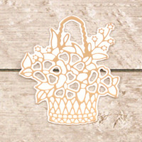 Couture Creations Lavish Ballroom Cut & Foil Die - Flower Basket