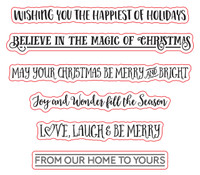 Simply Refined July 2018 Release - The Flipside Christmas, Stamp Set