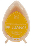 Dew Drop Brilliance Inks - Sunflower Yellow, Matte Finish