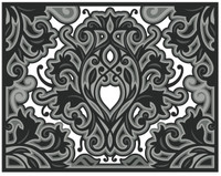 Simply Defined July 2018 Release Dies Set - Nothing to Be Afraid Of Collection, Kaleidoscope -  Damask Rose (Not Part of the Bundle)