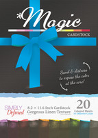 Simply Defined A4 Cardstock Gorgeous Linen Texture 20 Sheets Pack - Magic
