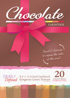 Simply Defined A4 Cardstock Gorgeous Linen Texture 20 Sheets Pack - Chocolate