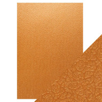 Tonic Studios - Craft Perfect,A4 Luxury Embossed Card (5/PK) - Bronze Labyrinth