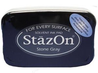 StazOn Permanent Ink Pad - Stone Gray