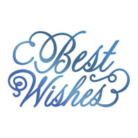 Couture Creations GoPress Foil Hotfoil Stamp, Sentiments - Best Wishes