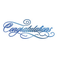 Couture Creations GoPress Foil Hotfoil Stamp, Sentiments - Congratulations